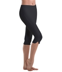 Motionwear Womens Plus Size Notched Capris