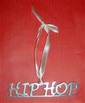 """Hip Hop"" Handmade Pewter Ornament - You Go Girl Dancewear"