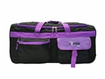 Ovation gear Large Black & Purple Performance Dance Bag with Rack with USB port