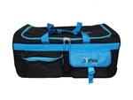Ovation Large Black & Turquoise Performance Dance Bag with Rack