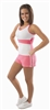 Pizzazz Adult Stripe Dance Shorts - 2400 - You Go Girl Dancewear
