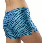 Pizzazz Adult Zebra Glitter Shorts - 1450 - You Go Girl Dancewear