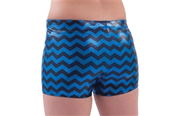 Pizzazz Adult Chevron Metallic Boy Cut Dance Brief - You Go Girl Dancewear