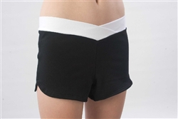 Pizzazz Adult Crossover V-Front Shorts - 3400 - You Go Girl Dancewear