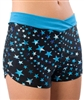 Pizzazz Adult Metallic Star Boy Cut Shorts with V-front - 3400SS - You Go Girl Dancewear