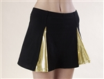 Pizzazz Youth Metallic V-panel Skirt - 4100M - You Go Girl Dancewear