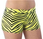 Pizzazz Adult Zebra Print Hot Shorts - 5400AP - You Go Girl Dancewear