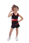 Pizzazz Youth Panel Top with Keyhole Back - 5700 - You Go Girl Dancewear