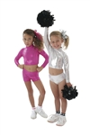 Pizzazz Child Body Basics Metallic Crop Top - 7600M - You Go Girl Dancewear
