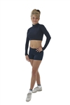 Pizzazz Adult Body Basics Crop Top - 7600 - You Go Girl Dancewear