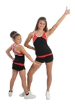 Pizzazz Youth Tri-Color Top with X-back - 7700 - You Go Girl Dancewear