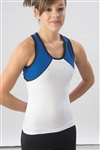 Pizzazz Adult Tri-Color Top with X-back - 7800 - You Go Girl Dancewear
