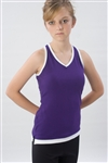 Pizzazz Youth Layered Look Top with Crisscross Back - 8700 - You Go Girl Dancewear