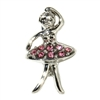 Rhinestone Dangling Leaping Dancer - You Go Girl Dancewear
