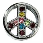Rhinestone Peace Sign - You Go Girl Dancewear