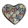 Rhinestone Multi Pastel Colored Heart - You Go Girl Dancewear