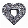 Rhinestone Open Clear Heart - You Go Girl Dancewear
