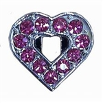 Rhinestone Open Pink Heart - You Go Girl Dancewear