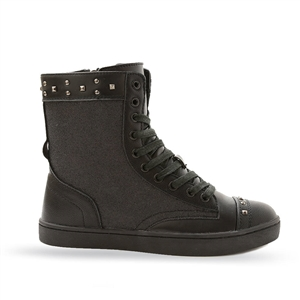 PASTRY POP TART HIGH-TOP SNEAKER - METALLIC BLACK