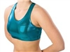 Pizzazz Child Metallic Sports Bra with Racer Back Design - Style 1023M - You Go Girl Dancewear