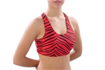 Pizzazz Adult Animal Print Sports Bra with Racer Back Design - Style 1213AP - You Go Girl Dancewear