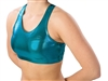 Pizzazz Adult Metallic Sports Bra with Racer Back Design - Style 1213M - You Go Girl Dancewear