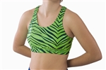Pizzazz Child Glitter Zebra Sports Bra with Racer Back - Style 3500ZG - You Go Girl Dancewear