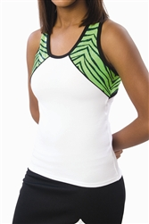Pizzazz Adult Tri-Color Zebra Glitter Top with X-back - Style 5800ZG - You Go Girl Dancewear