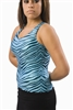 Pizzazz Adult Zebra Glitter Racer Back Top - Style 9400ZG - You Go Girl Dancewear