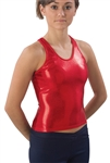 Pizzazz Adult Metallic Racer Back Top - 9800M - You Go Girl Dancewear