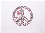 Heat Transfer Zebra Peace Sign - You Go Girl Dancewear