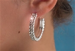 Rhinestone Earring Two Row Hoop - You Go Girl Dancewear