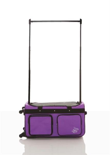 0184c809d0cd Rac N Roll Purple Polka Dot Expandable Dance Bag with Rack