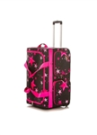 Rac N Roll Pink Star Expandable Dance Bag with Rack, Large