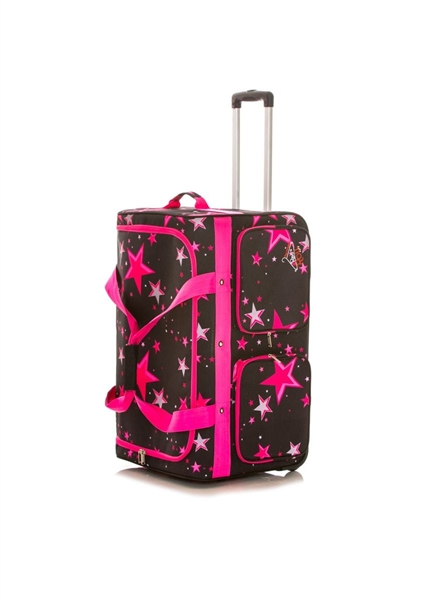 Rac N Roll Pink Star Expandable Dance Bag 2 0 With Rack Large