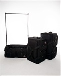 Rac N Roll Black Expandable Dance Bag with Rack, large