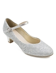 "So Danca Women's Rachelle Sparkle Silver 1.5"" Heel Character Shoe, BL116 - You Go Girl Dancewear"