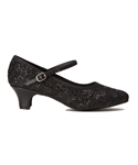 "So Danca Women's Rachelle Sparkle Black 1.5"" Heel Character Shoe, BL116 - You Go Girl Dancewear"