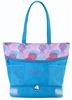 "Sassi Designs BLM-01 Blooms Medium Tote with screen print design, embroidered ""Dance"" and multiple pockets"