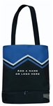 Sassi Designs CHR-05Royal Royal Cheer Uniform Medium Tote W/Shoe Compartment
