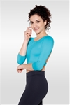 So Danca Adult Jade 3/4 Sleeve Crop Top