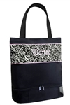 Sassi Designs DSK-02 Damask Medium Tote with Shoe Compartment