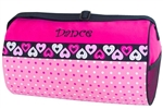 Sassi Designs DTZ-02 Dotz n Hearts Medium Roll Duffel with Dance