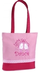Sassi Designs L2D-01PK Love 2 Dance PINK small tot; ribbon trim & embroidered applique
