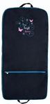 Sassi Designs LLD-04 Live, Laugh, Dance garment bag; embroidered design & rhinestone accents