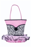 Sassi Designs NOR-03 Tutu Tote - Small Tote With Zebra Print