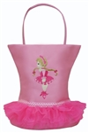 Sassi Designs NOR-06 Tutu Tote - Small Tote With Embroidered Dancer