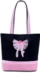 Sassi Designs OYT-01 On Your Toes small tote with net tulle skirt on ballet legs