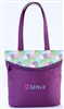 "Sassi Designs POP-01 Lollipop Small tote with screen printed design and embroidered ""Dance"""