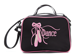 "Sassi Designs Releve Square Tote with embroidered ""Dance"" and Pointe Shoes - You Go Girl Dancewear"